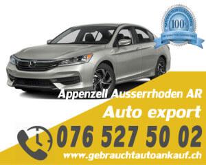 Auto Export Appenzell Ausserrhoden Schweiz